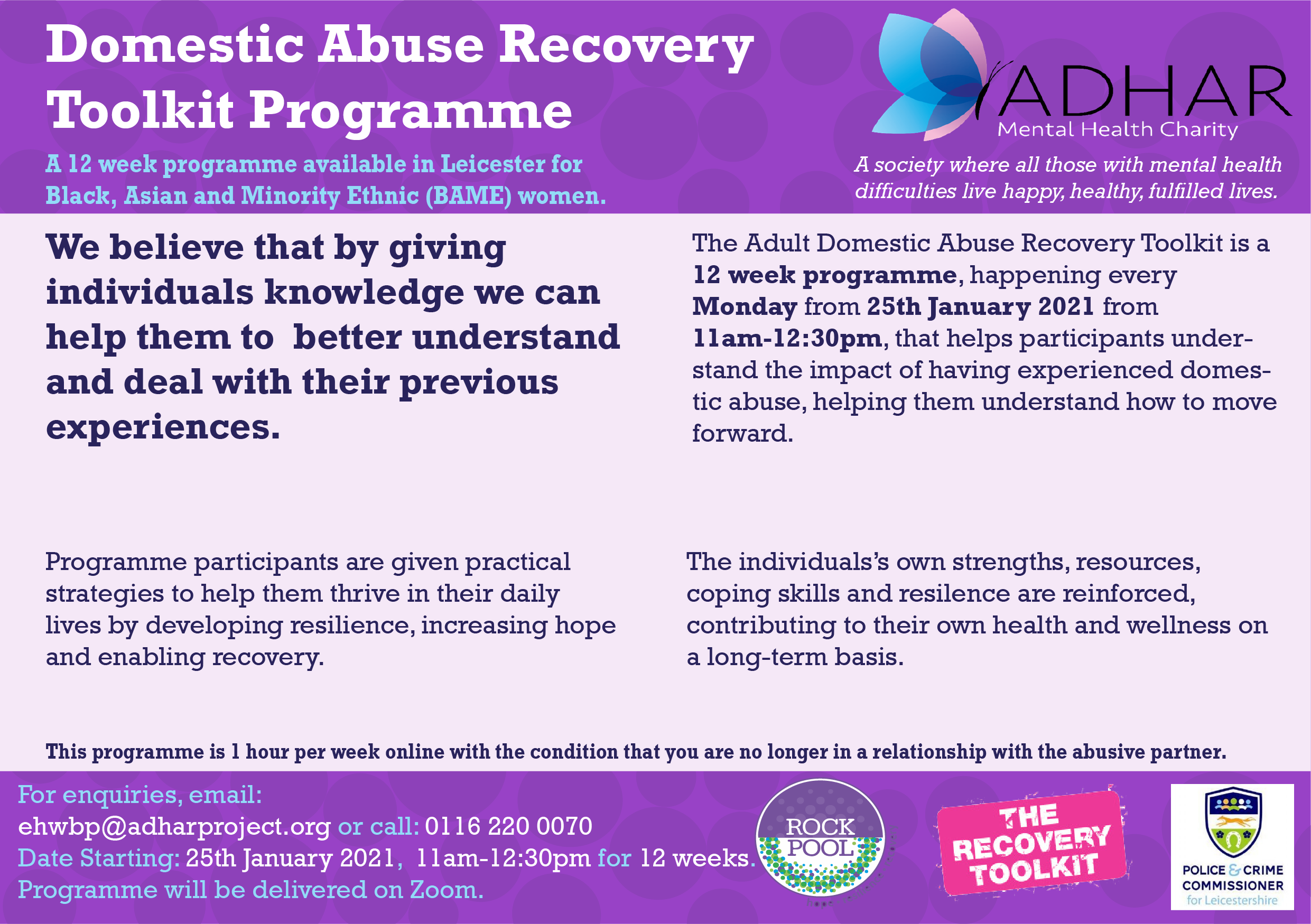 In January, Start Your Domestic Abuse Recovery with Adhar