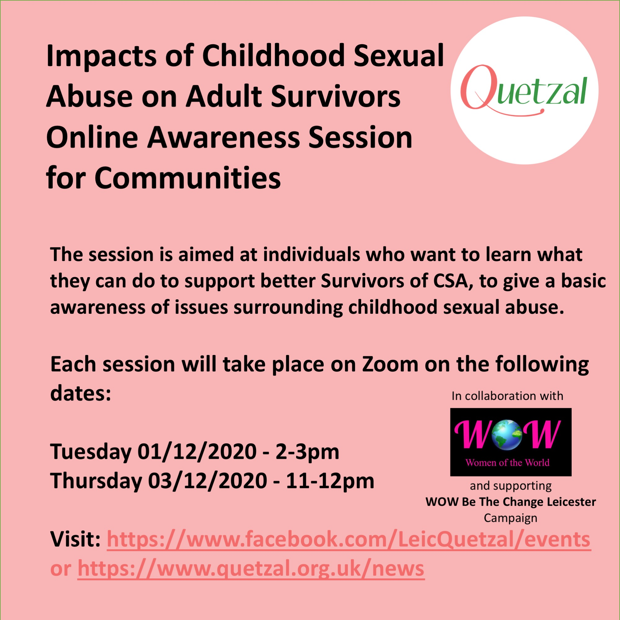 Attend Our Awareness Session About the Impact of Childhood Sexual Abuse on Adult Survivors