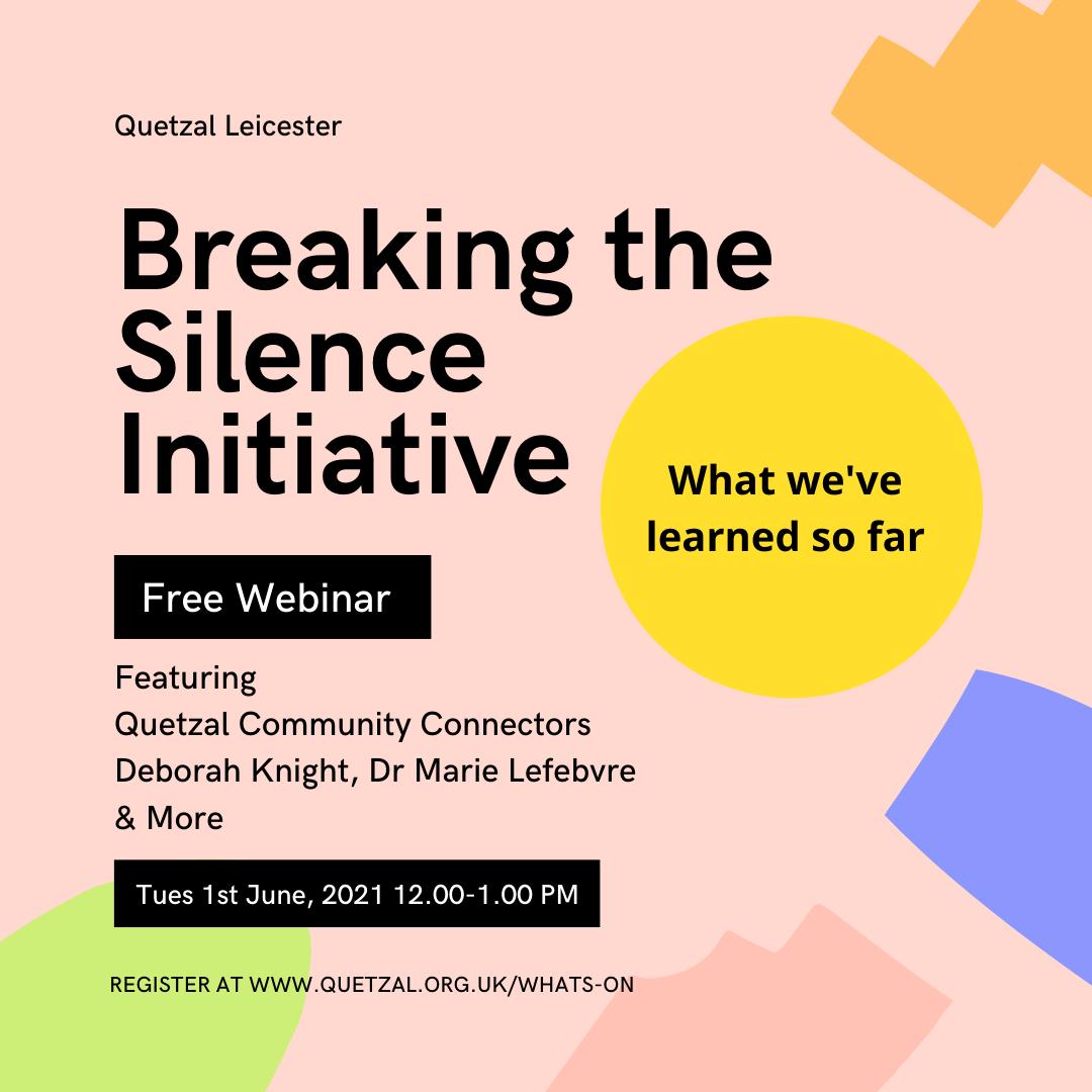 Volunteer's Week Webinar: Breaking the Silence – What We've Learnt So Far