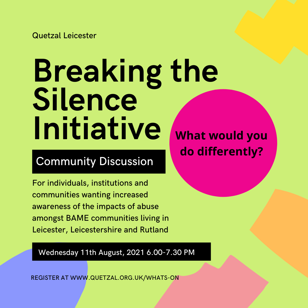 Learn from the Breaking the Silence Initiative Community Discussion 2