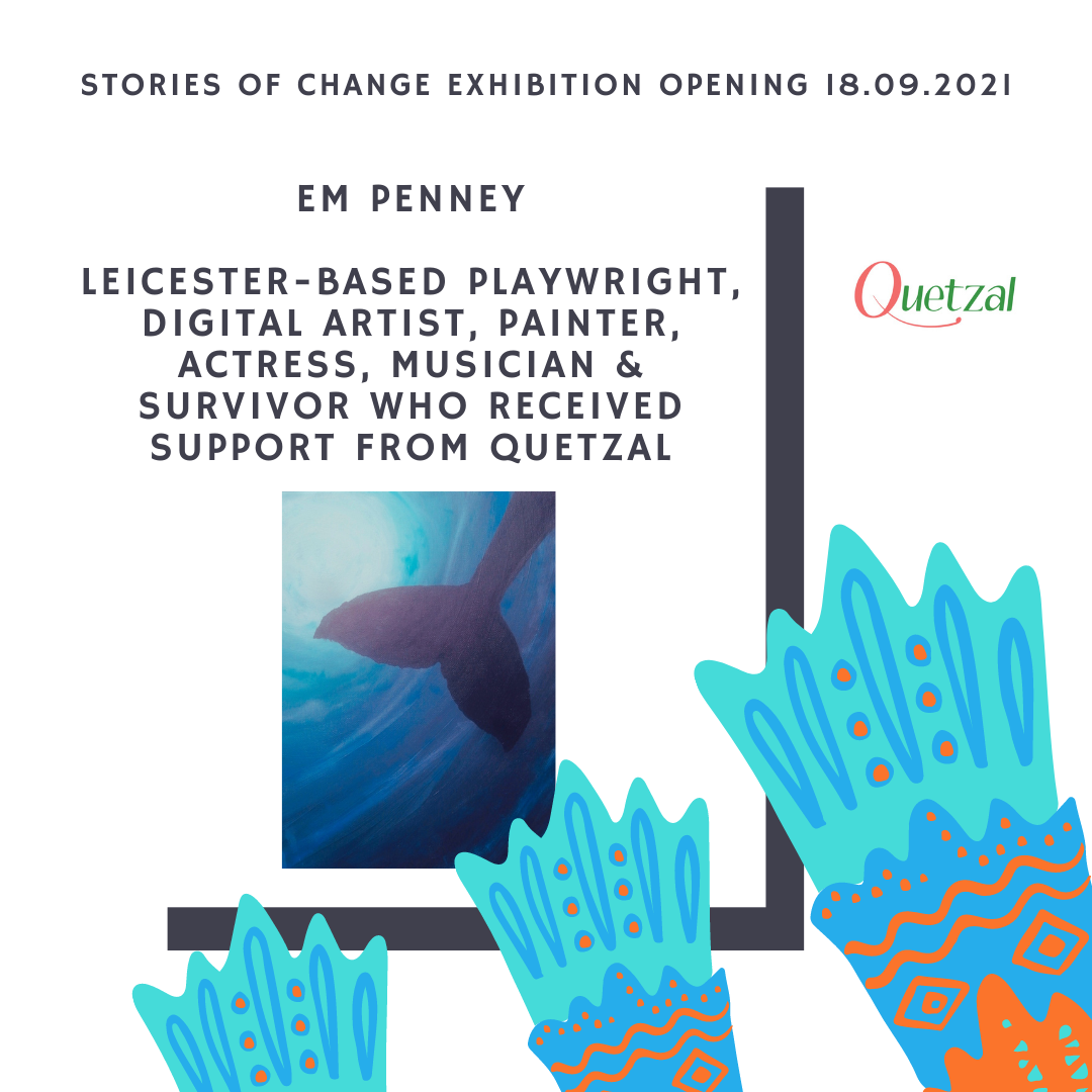 Em Penney showcases her artworks at Quetzal Stories of Change Exhibition