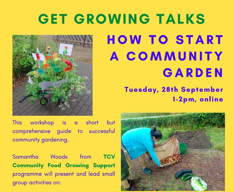 Get Growing Talks: How to Start A Community Garden